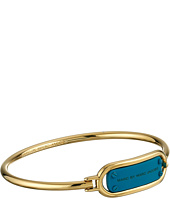 Marc by Marc Jacobs - Key Items Colored Ring Around Plaque Hinge Bracelet