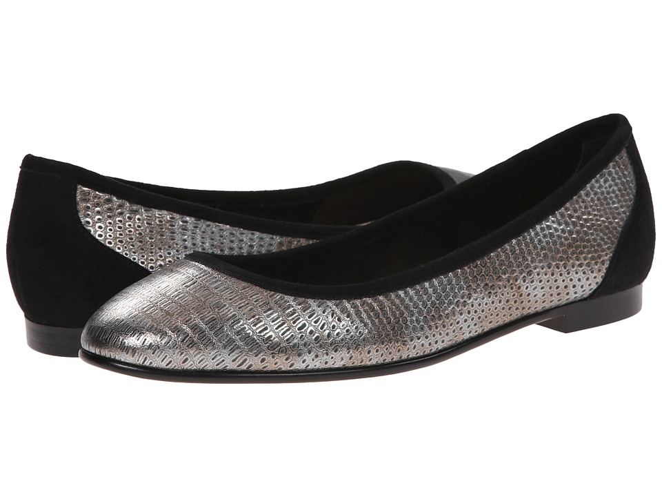 Via Spiga - Demetria (Gunmetal/Black Metallic Lizard Print/Kid Suede) Women