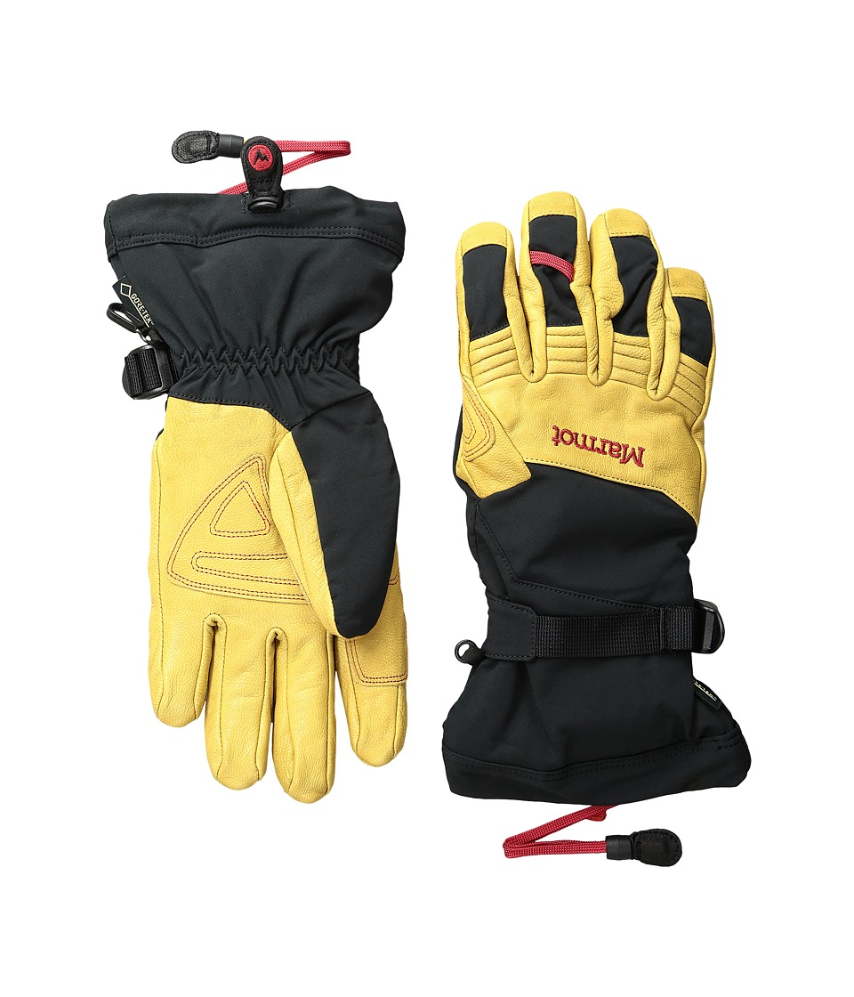 Marmot Ultimate Ski Glove (Black/Tan) Ski Gloves