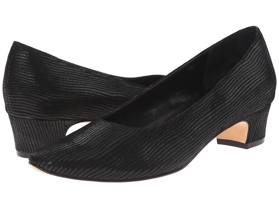 Vaneli Astyr Black Miniliz Print Womens 1 2 inch heel Shoes