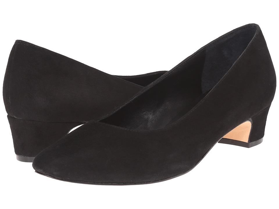 Vaneli Astyr Black Suede Womens 1 2 inch heel Shoes