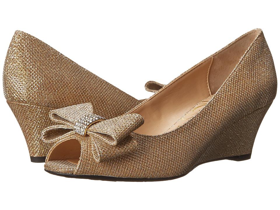 J. Renee Blare Gold High Heels