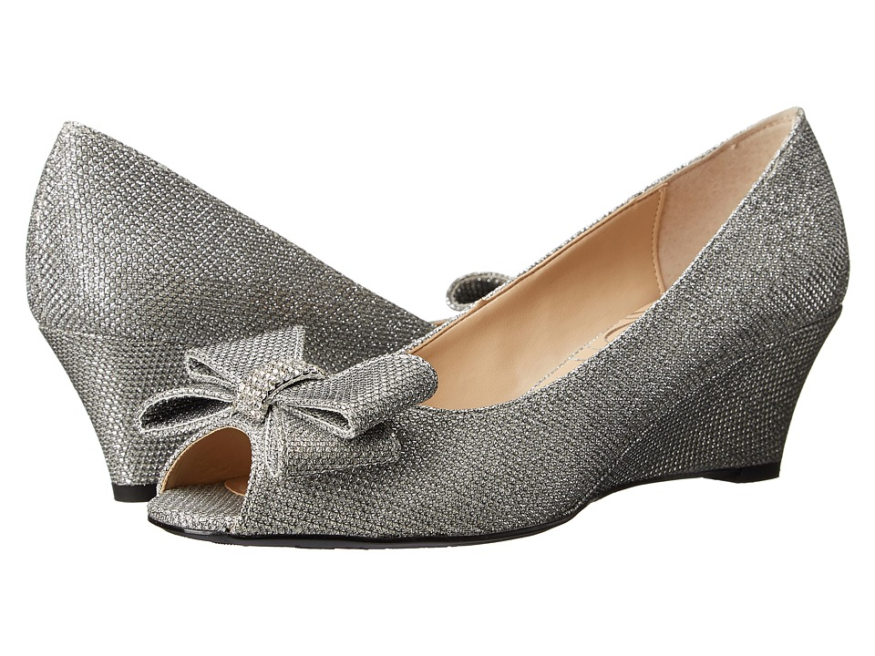 1940s Style Shoes J. Renee - Blare Silver High Heels $99.95 AT vintagedancer.com