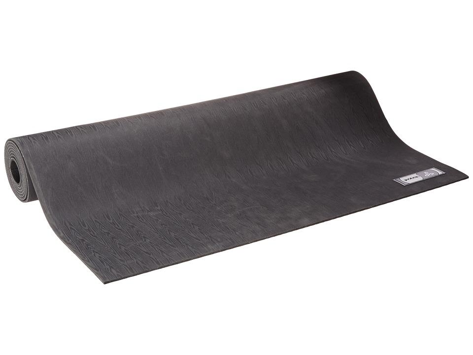 Prana - Indigena Natural Yoga Mat (Black) Athletic Sports Equipment