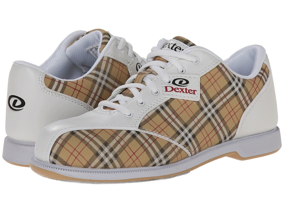 Dexter Bowling Ana White/Tan/Plaid Womens Bowling Shoes