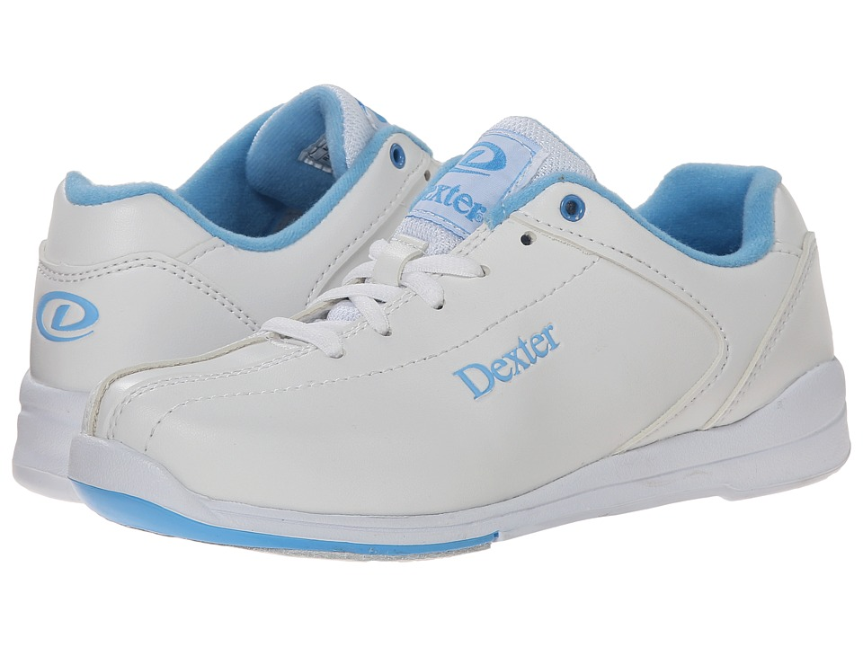 Dexter Bowling Raquel IV White/Blue Womens Bowling Shoes