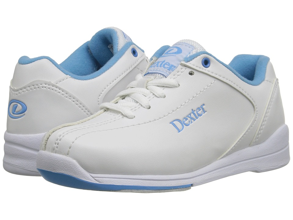 Dexter Bowling Raquel IV Jr. Little Kid/Big Kid White/Blue Mens Bowling Shoes