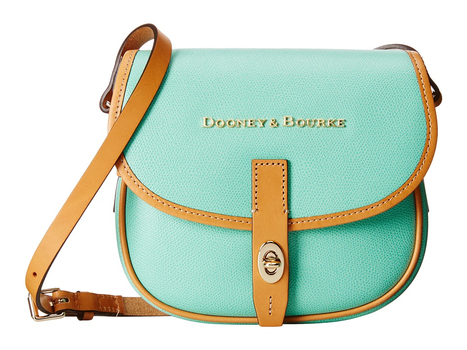Dooney & Bourke - Claremont Field Bag (Seafoam w/ Butterscotch Trim) Cross Body Handbags