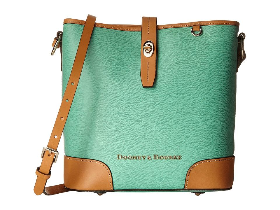 Dooney & Bourke - Claremont Crossbody Bucket (Seafoam w/ Butterscotch Trim) Cross Body Handbags