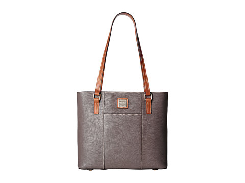 Dooney & Bourke Small Lexington Shopper - Elephant w/ Tan Trim