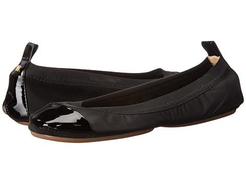 Yosi Samra Samantha Soft Leather Fold Up Flat with Contrast Cap Toe