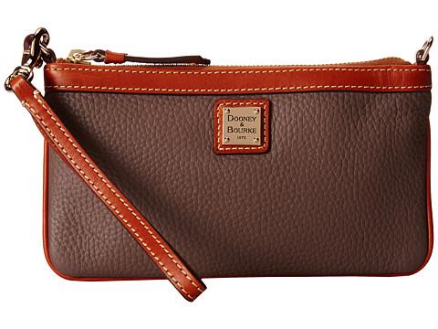 Dooney & Bourke Pebble Leather New SLGS Large Slim Wristlet