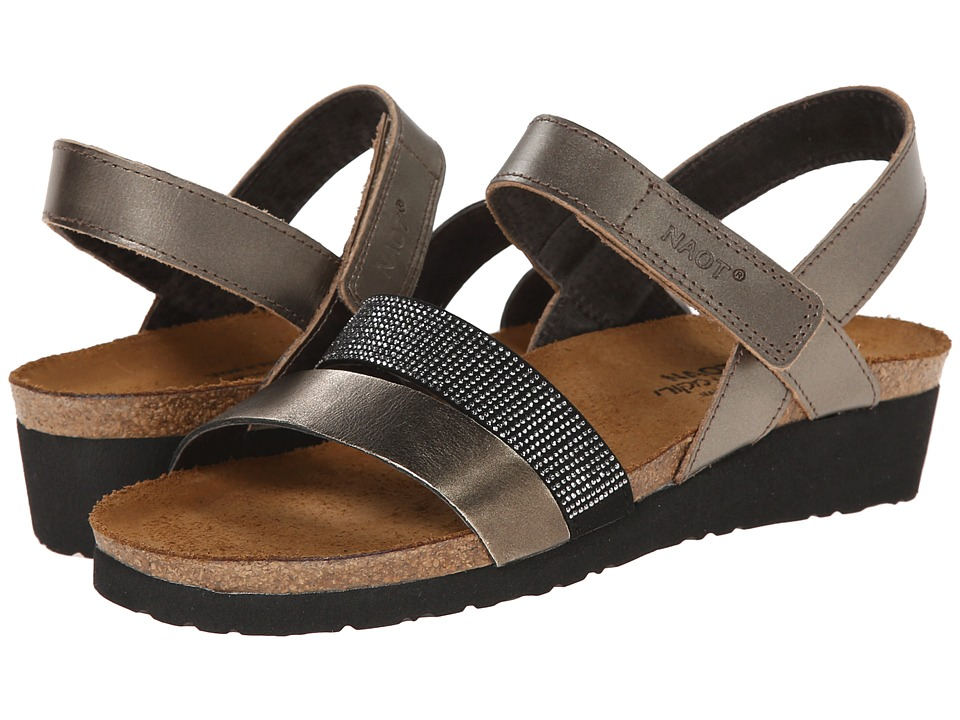 Naot Krista (Pewter Leather/Metal Leather) Sandals