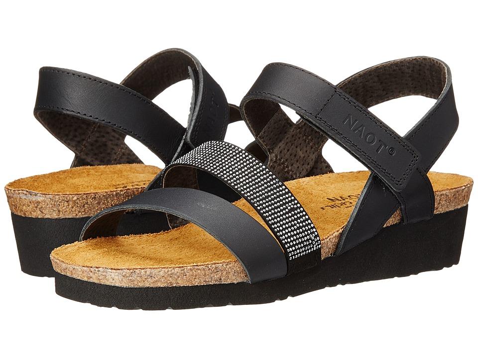 Naot Krista (Black Matte Leather) Sandals