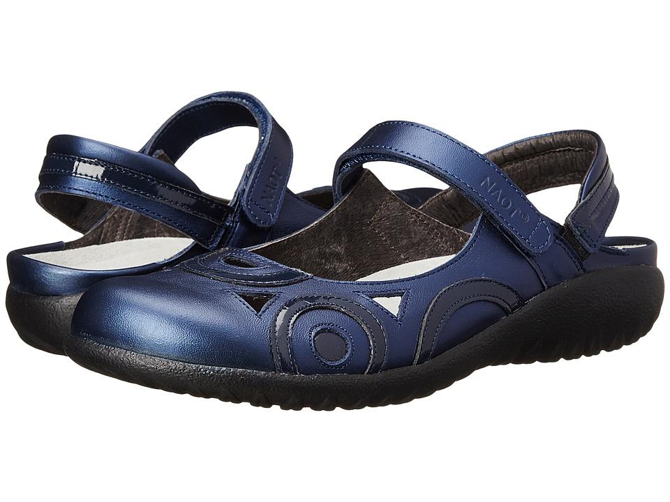 Naot Rongo (Polar Sea Leather/Navy Patent Leather) Women'...