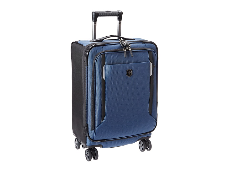 Victorinox - Werks Traveler 5.0 - WT 20 Dual Caster Expandable 8-Wheel Global Carry-On (Navy Blue) Carry on Luggage