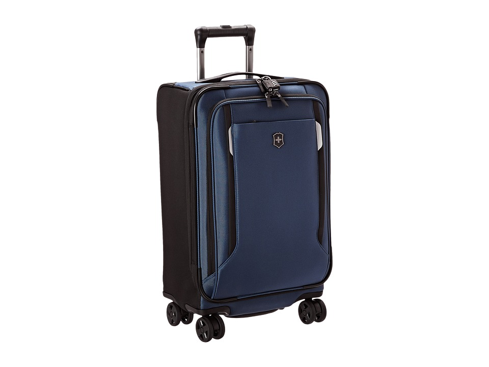 Victorinox - Werks Traveler 5.0 - WT 22 Dual Caster Expandable 8-Wheel U.S. Carry-On (Navy Blue) Carry on Luggage