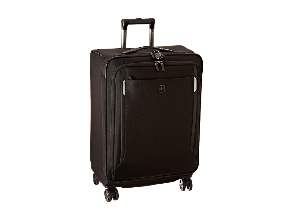 Victorinox - Werks Traveler 5.0 - WT 24 Dual Caster Expandable 8-Wheel Upright (Black) Luggage