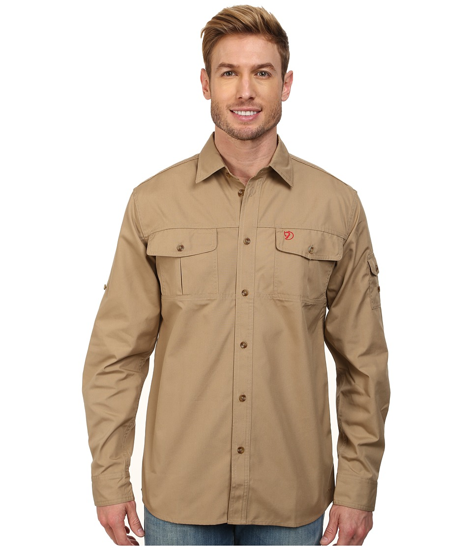 Fj  llr  ven - Sarek Trekking Shirt Sand Mens Clothing $110.00 AT vintagedancer.com