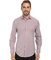 Perry Ellis - Long Sleeve Jacquard Check Pattern Shirt