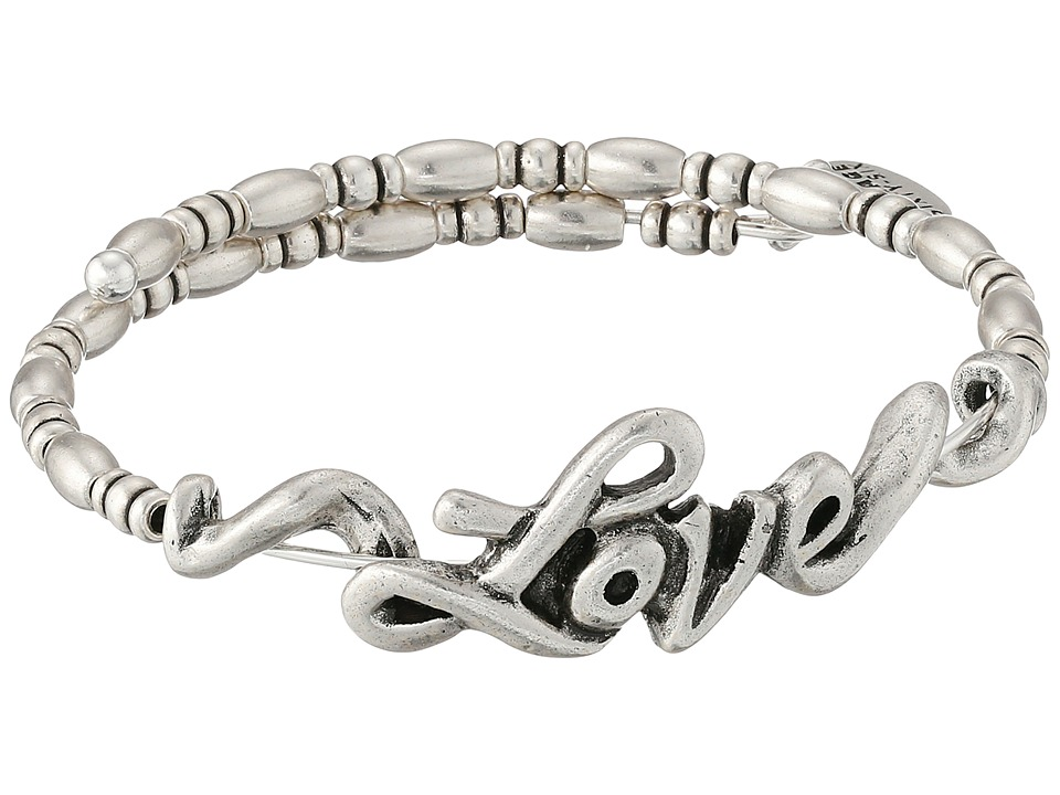 Alex and Ani Love Wrap Bracelet Rafaelian Silver Finish Bracelet