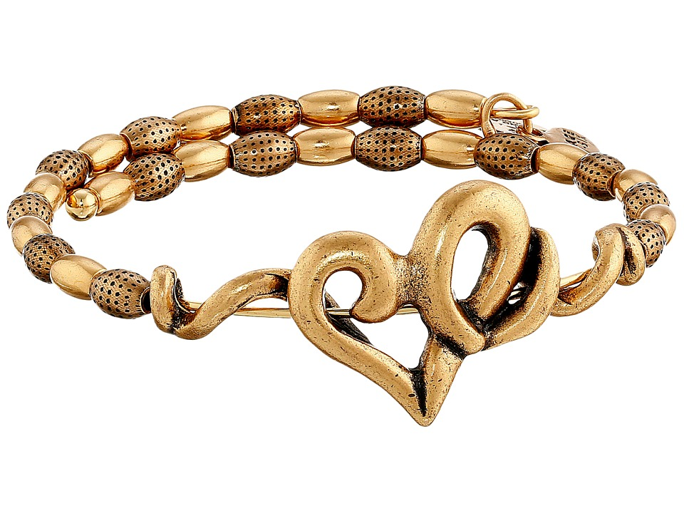 Alex and Ani Heart Wrap Bracelet Rafaelian Gold Finish Bracelet