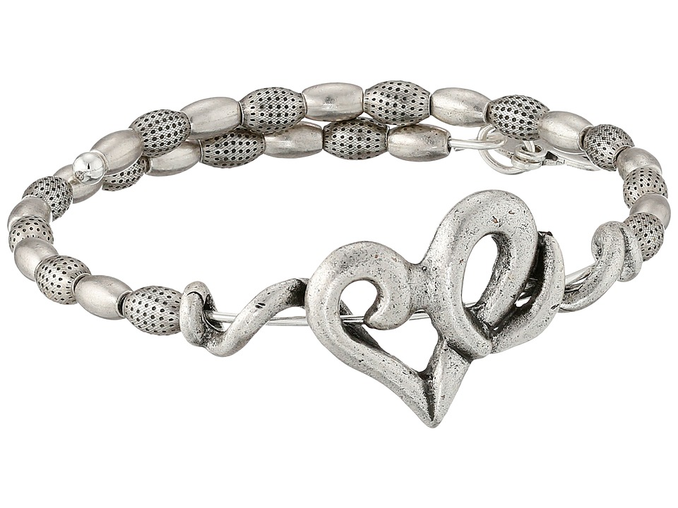 Alex and Ani Heart Wrap Bracelet Rafaelian Silver Finish Bracelet