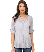 Dylan by True Grit - Roll Sleeve Embroidered Shirt