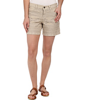 Dylan by True Grit - Embroidered Five-Pocket Shorts