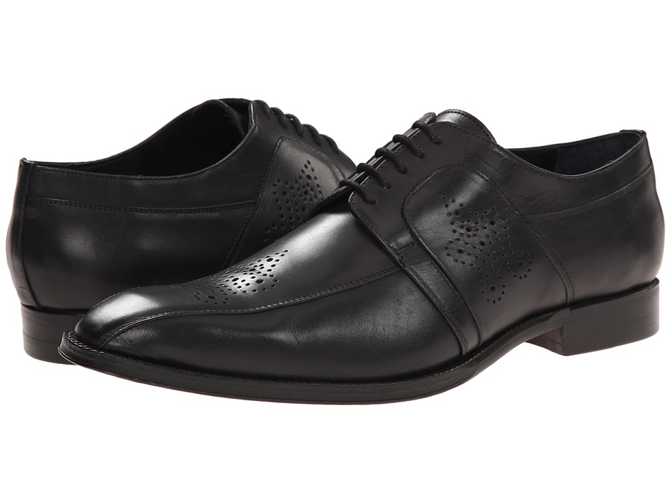 Messico Cristiano Black Leather Mens Dress Flat Shoes