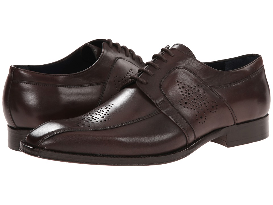 Messico Cristiano Brown Leather Mens Dress Flat Shoes