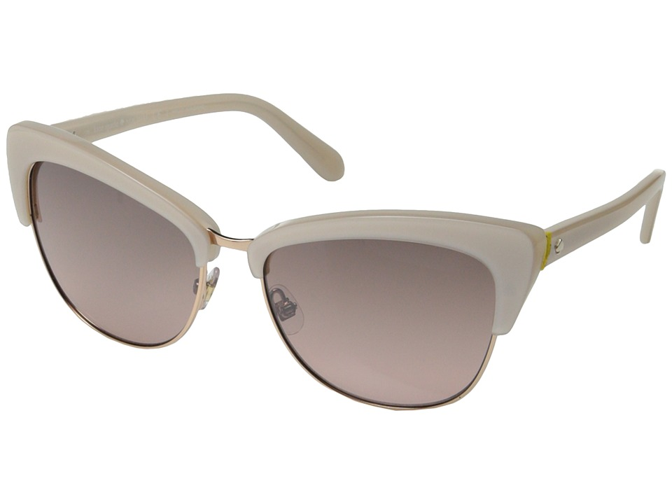 1950s Sunglasses & Eyeglasses Frames Kate Spade New York - GenetteS BeigeRose ShadeSilver Mirror Fashion Sunglasses $162.99 AT vintagedancer.com