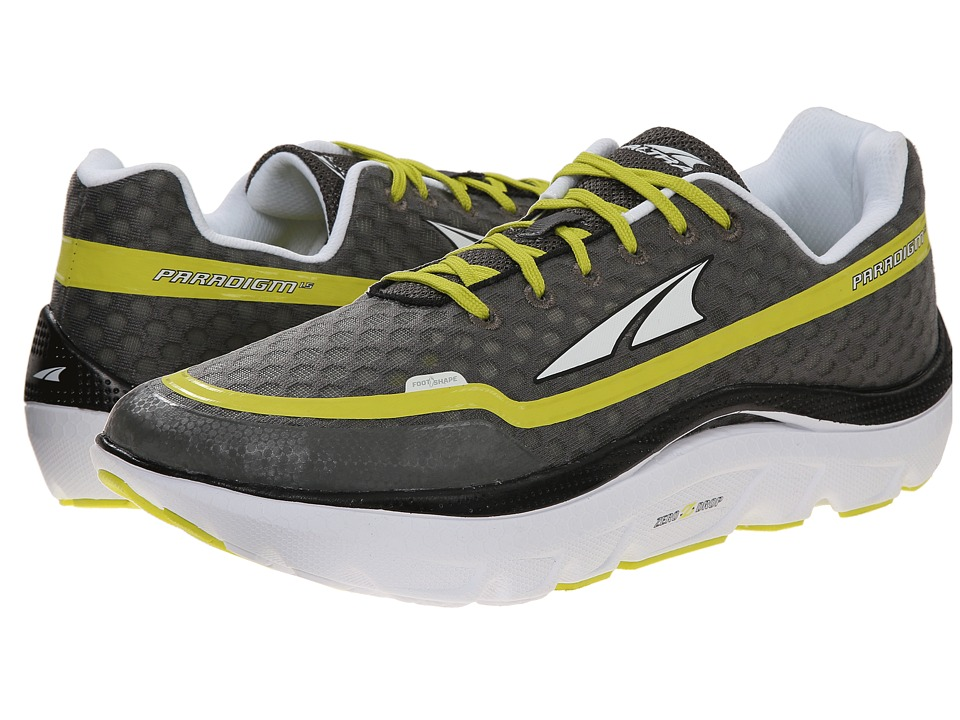 Altra Footwear Paradigm 1.5 Charcoal Lime Mens Running Shoes