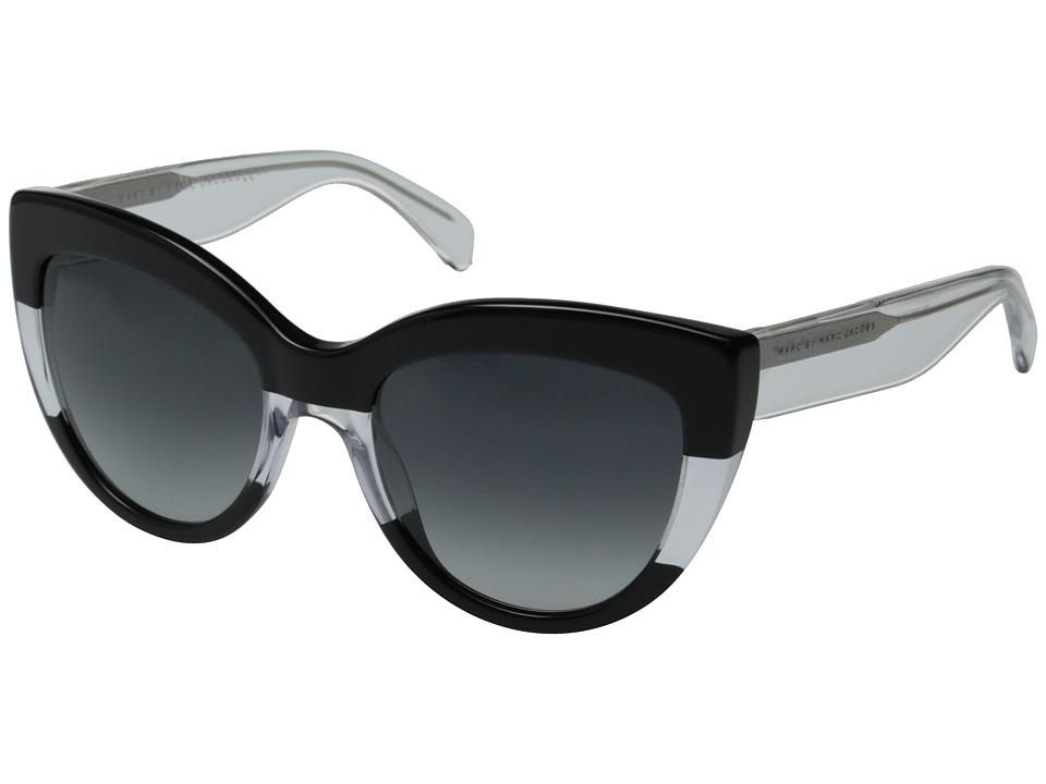 Marc by Marc Jacobs MMJ 455/S Black Crystal/Gray Gradient Metal Frame Fashion Sunglasses