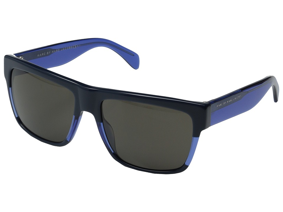 Marc by Marc Jacobs MMJ 456/S Blue Transparent Blue/Brown Metal Frame Fashion Sunglasses