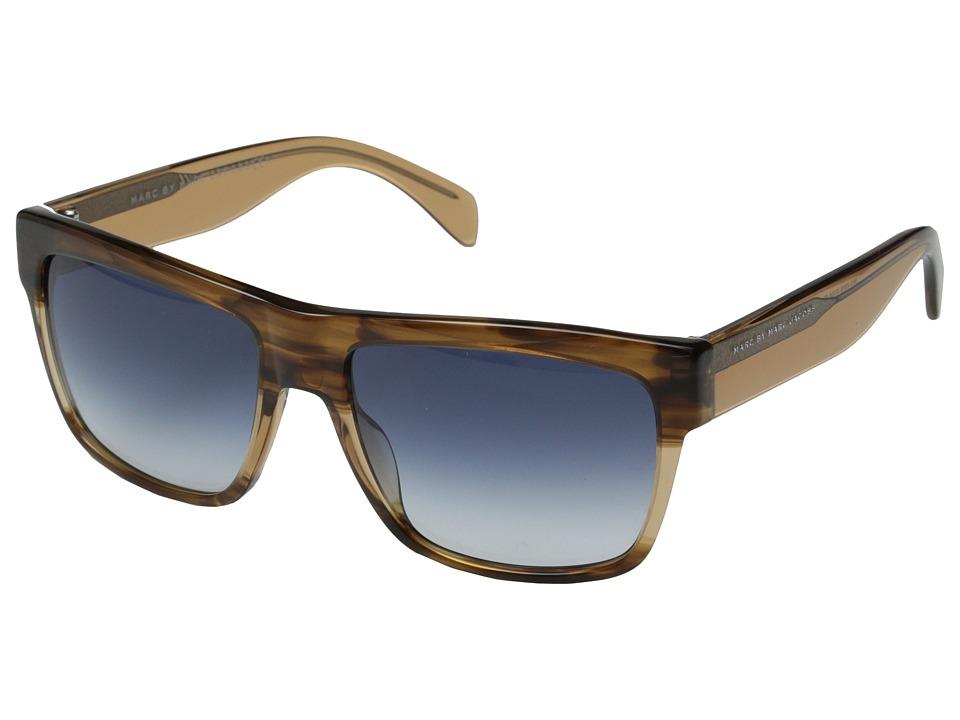 Marc by Marc Jacobs MMJ 456/S Havana Beige/Dark Blue Gradient Metal Frame Fashion Sunglasses