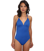 LAUREN by Ralph Lauren - Laguna Solids Tie Back Halter Mio One-Piece