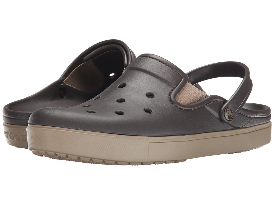 Crocs - CitiLane Clog (Espresso/Khaki) Clog Shoes