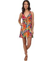 LAUREN Ralph Lauren - Polynesian Floral Surplice Halter Dress Cover-Up