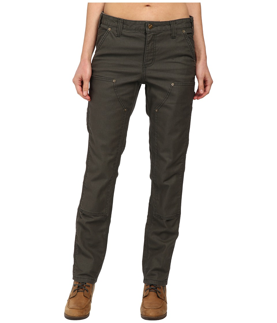 Carhartt Slim Fit Double-Front Canvas Dungaree Jeans (Moss) Women