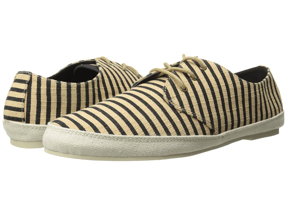 Scotch amp Soda Structured Stripe Weave Loafers Black/Beige Mens Slip on Shoes