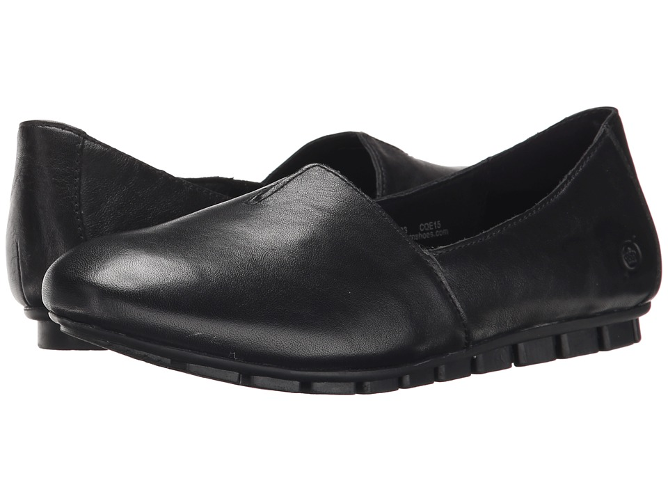 Born Sebra (Black Full Grain Leather) Slip-On Shoes