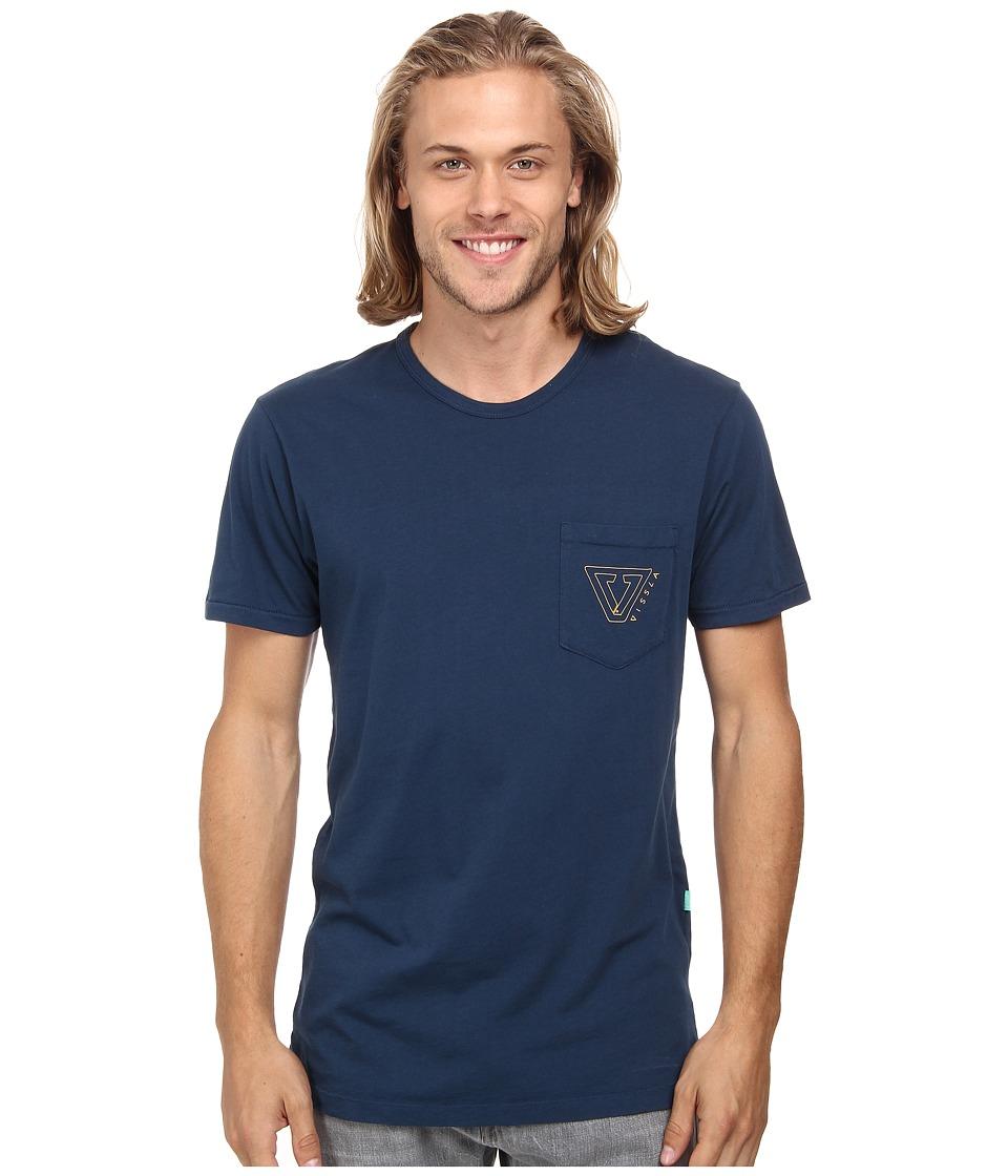 VISSLA Established Short Sleeve Tee Naval Mens T Shirt
