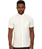 Ben Sherman - Short Sleeve Cotton Linen Solid Woven MA11348A