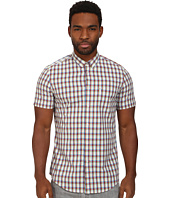 Ben Sherman - Short Sleeve Cotton Linen Check Woven MA11351A