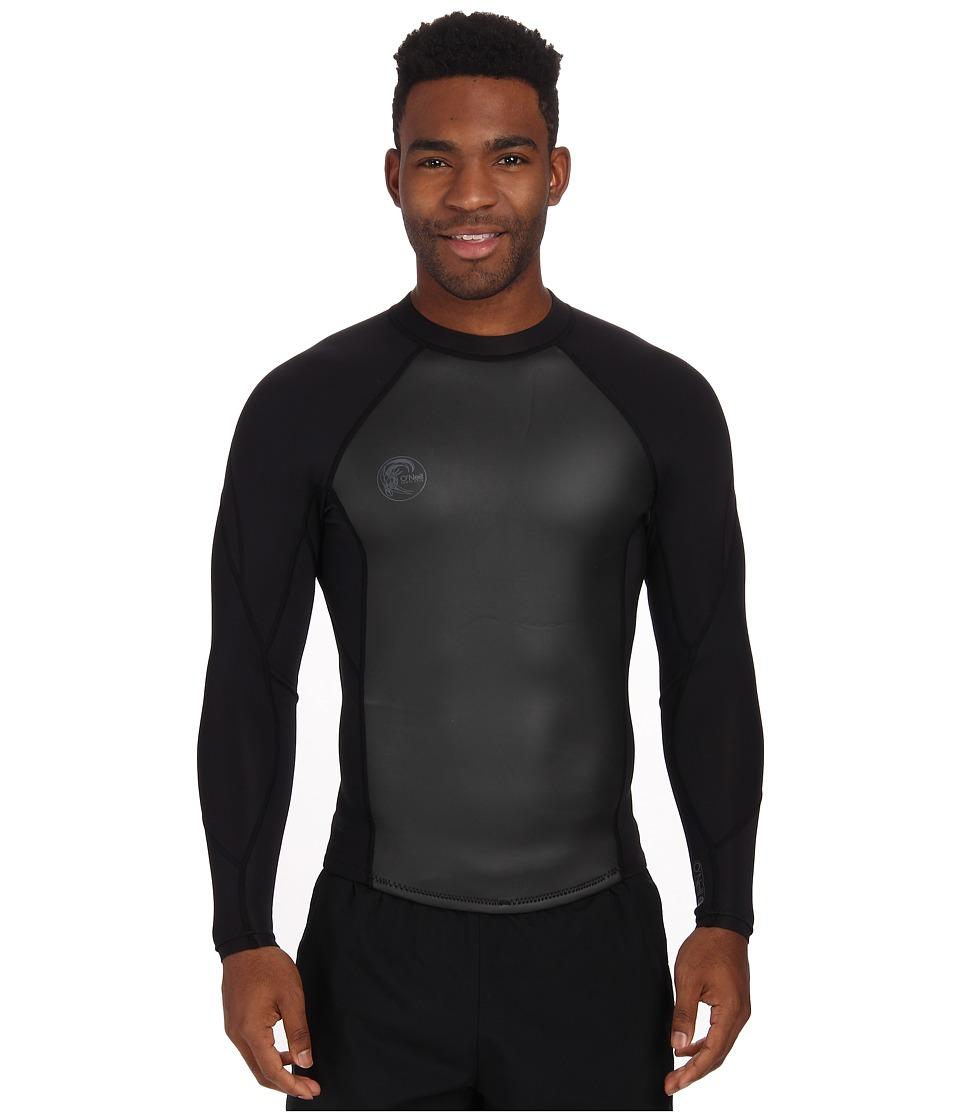 ONeill - ORiginal 2/1mm Jacket (Black/Black/Black) Mens Swimwear