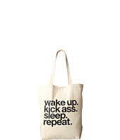 Dogeared - Wake Up. Kick Ass. Sleep. Repeat. Tote