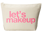 Dogeared Let's Makeup Lil Zip Bag (Canvas/Pink)