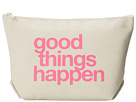 Dogeared Good Things Happen Lil Zip Bag (Canvas/Pink)