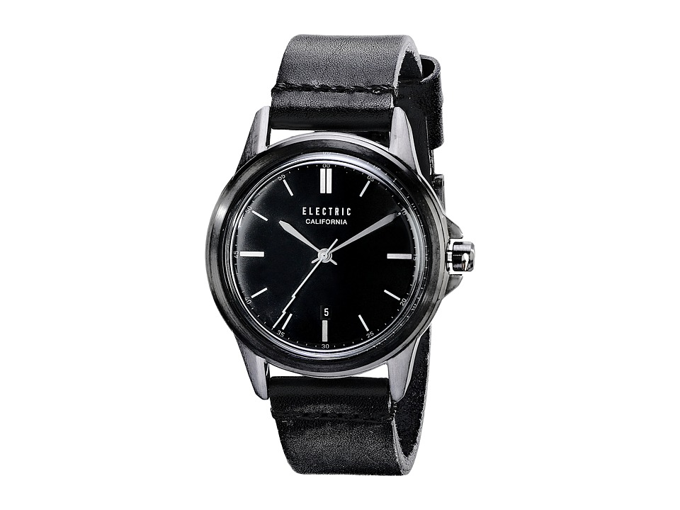 Electric Eyewear Carroway Leather All Black Watches